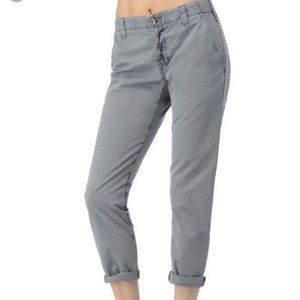 J Brand Inez Crop Chino Washed Navy Blue Gray 28 6